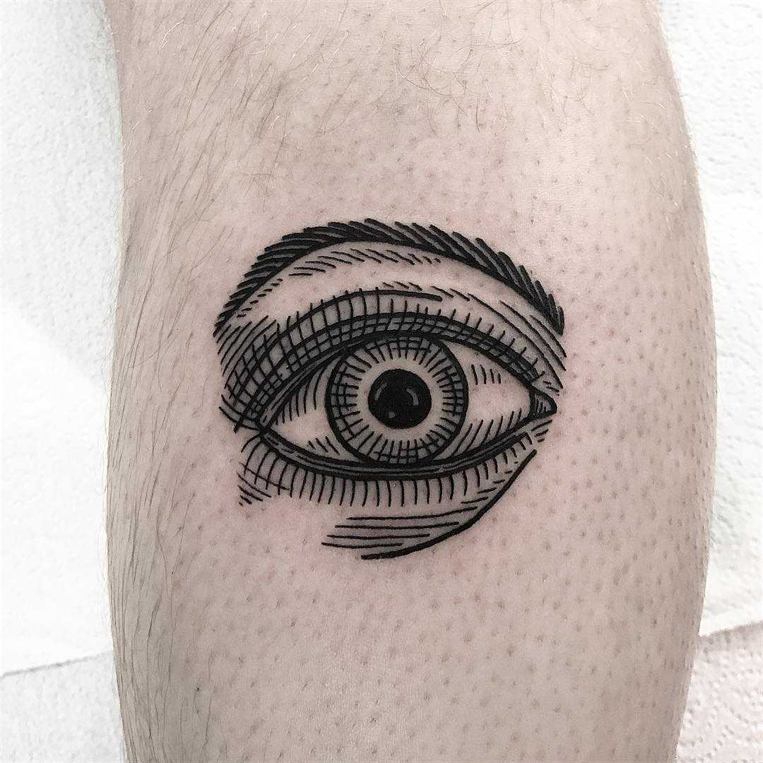 Engraved style eye by Deborah Pow