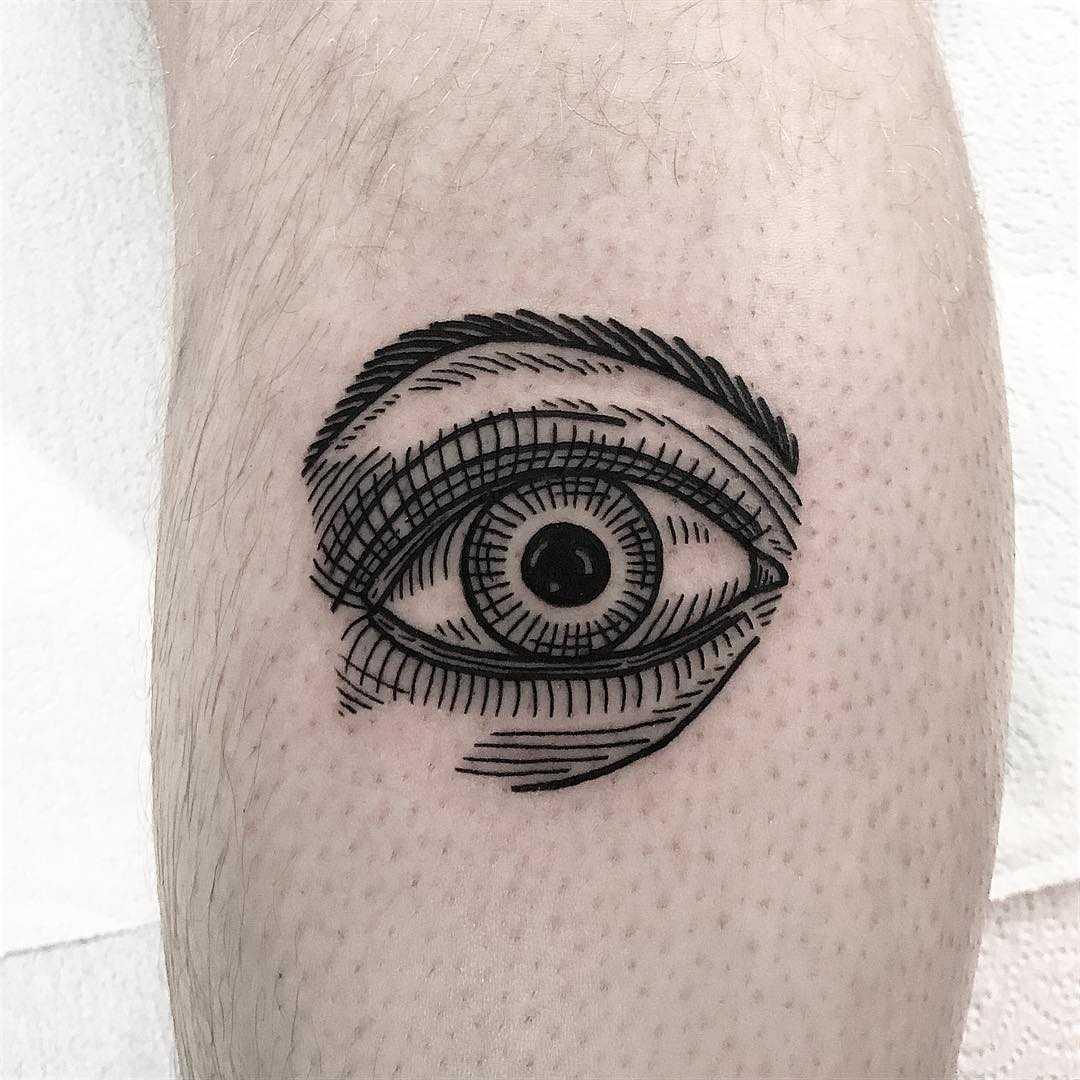 Engraved style eye by Deborah Pow