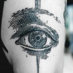 Eye and nail tattoo by SVA