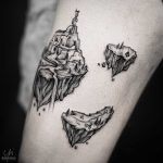 Floating rock tattoos