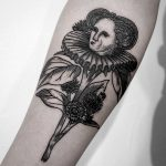 Flower lady tattoo by Andrei Svetov