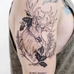 Forest spirit tattoo by Finley Jordan