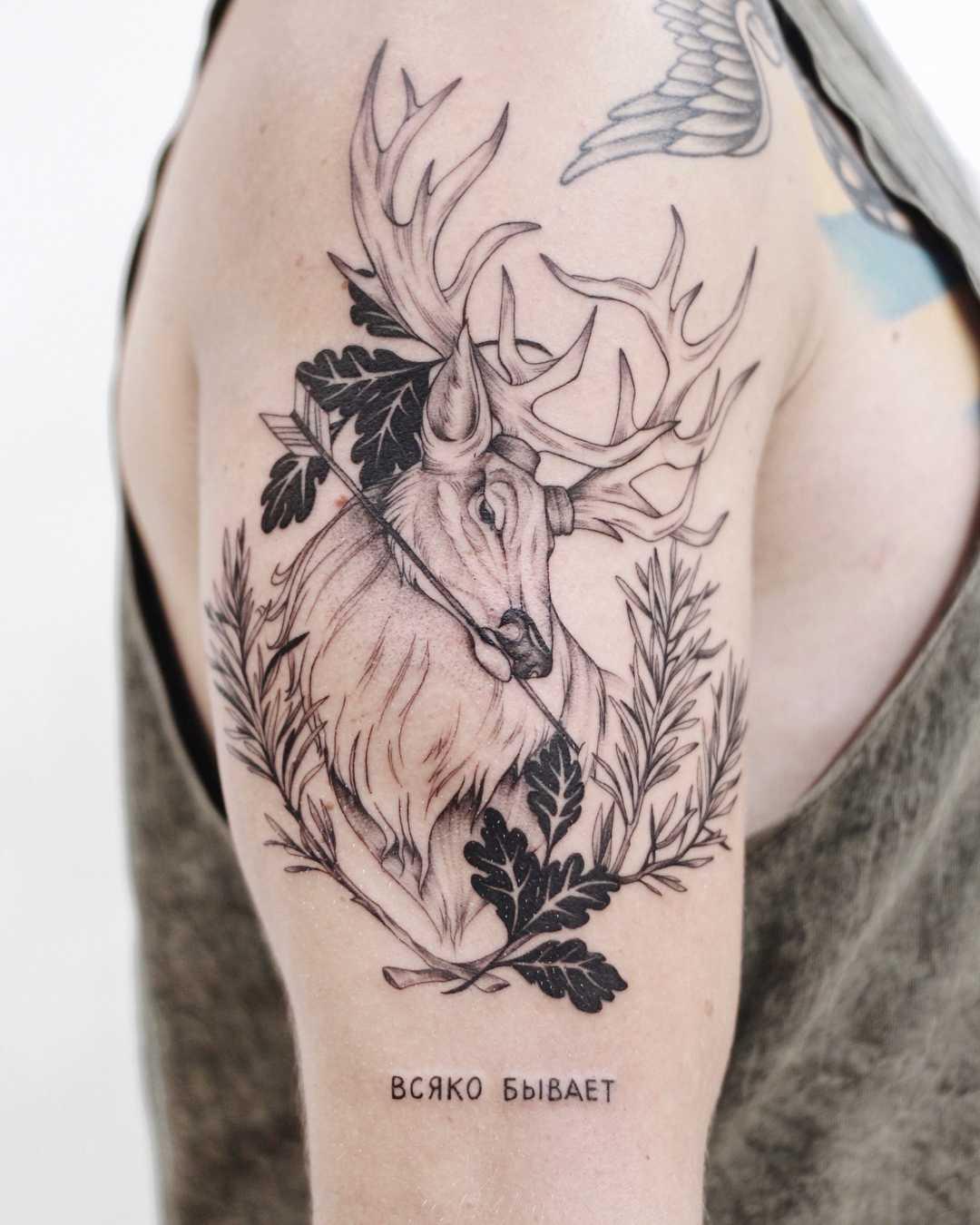 Forest spirit tattoo by Finley Jordan