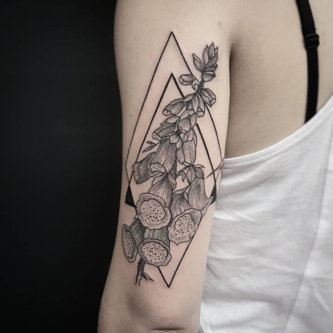 Foxglove flower tattoo