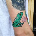 Green frot tattoo by Marmont Art