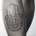 Hamsa Handa tattoo by Warda