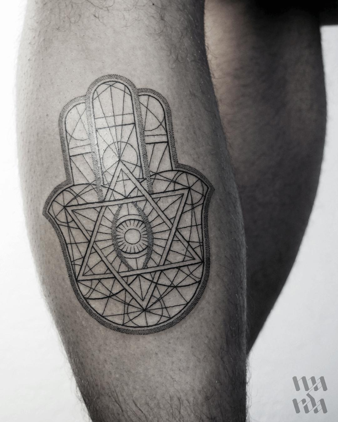 Hamsa Handa tattoo by Warda