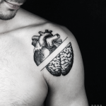 Heart or mind tattoo by Warda