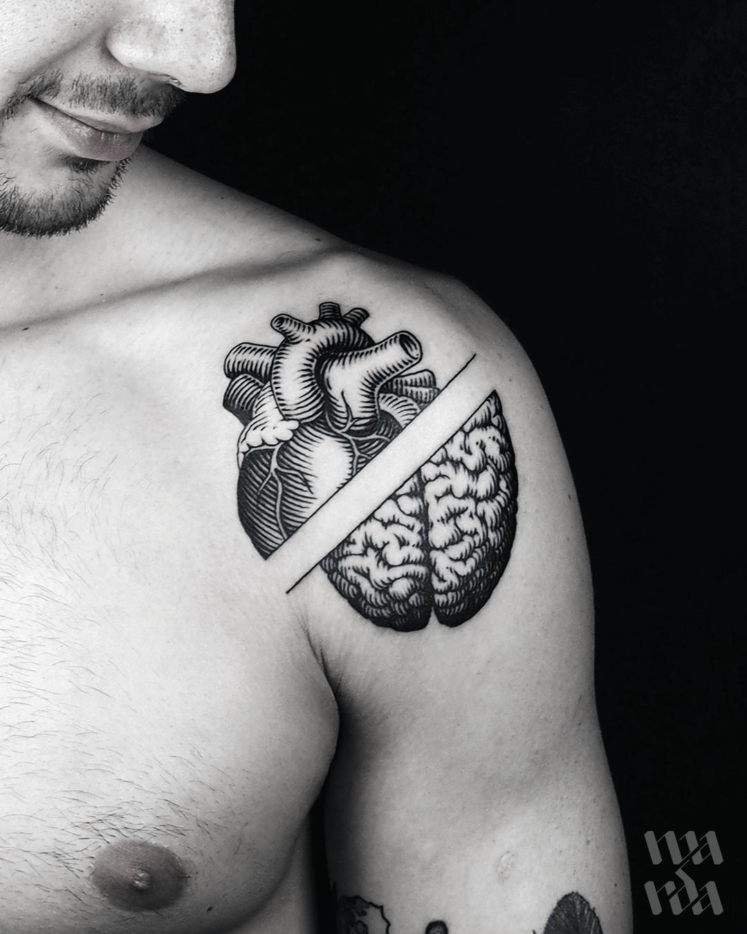 Heart or mind tattoo by Warda