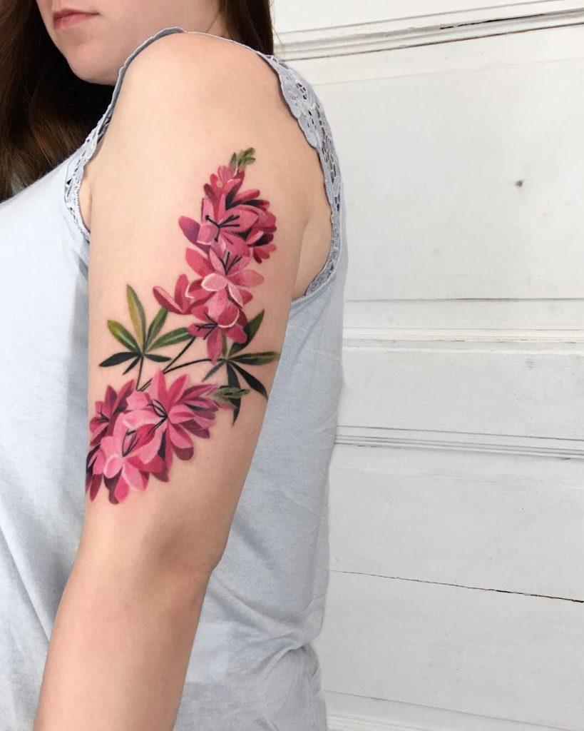 Ixia branch tattoo by Mavka Leesova