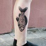 Joy Division fish tattoo