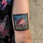 Kame House tattoo by Eugene Dusty Past