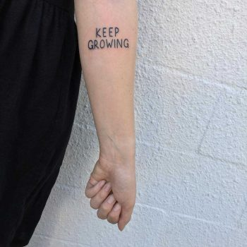 Keep growing tattoo by yeahdope