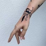 Leaf tattoo by Agata Agataris