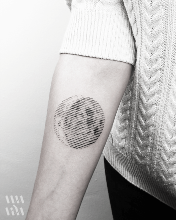 Linework moon tattoo by Warda