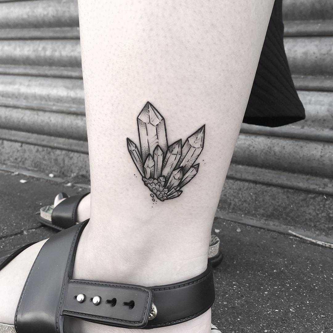 Little crystal cluster by Lozzy Bones Tattoo