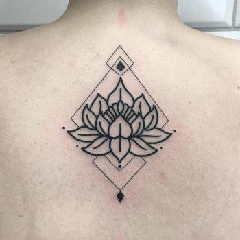 Lotus flower by tattooist Smutek