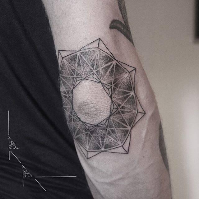Mandala around elbow by Rach Ainsworth