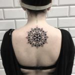 Mandala on the upper back