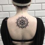 Mandala on the upper back