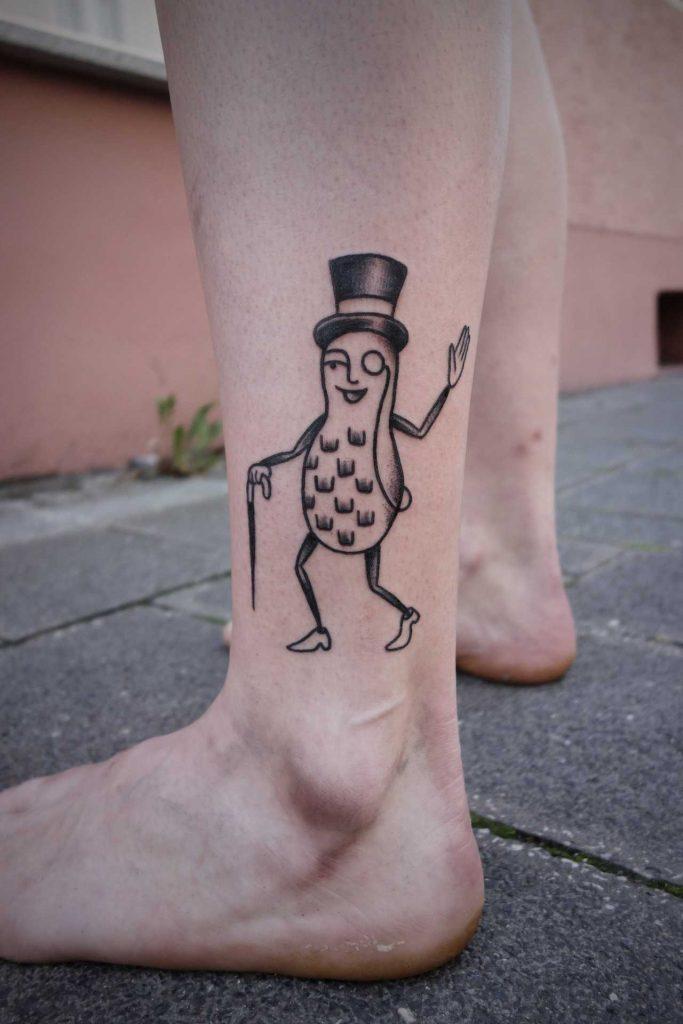 Mister Peanut tattoo