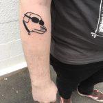 Modern Baseball dog tattoo by tattooist yeahdope