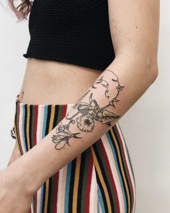 Morning Glory tattoo by Finley Jordan