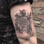 Mystical peony tattoo by Amie Stephenson