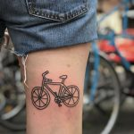 Outline bicycle tattoo