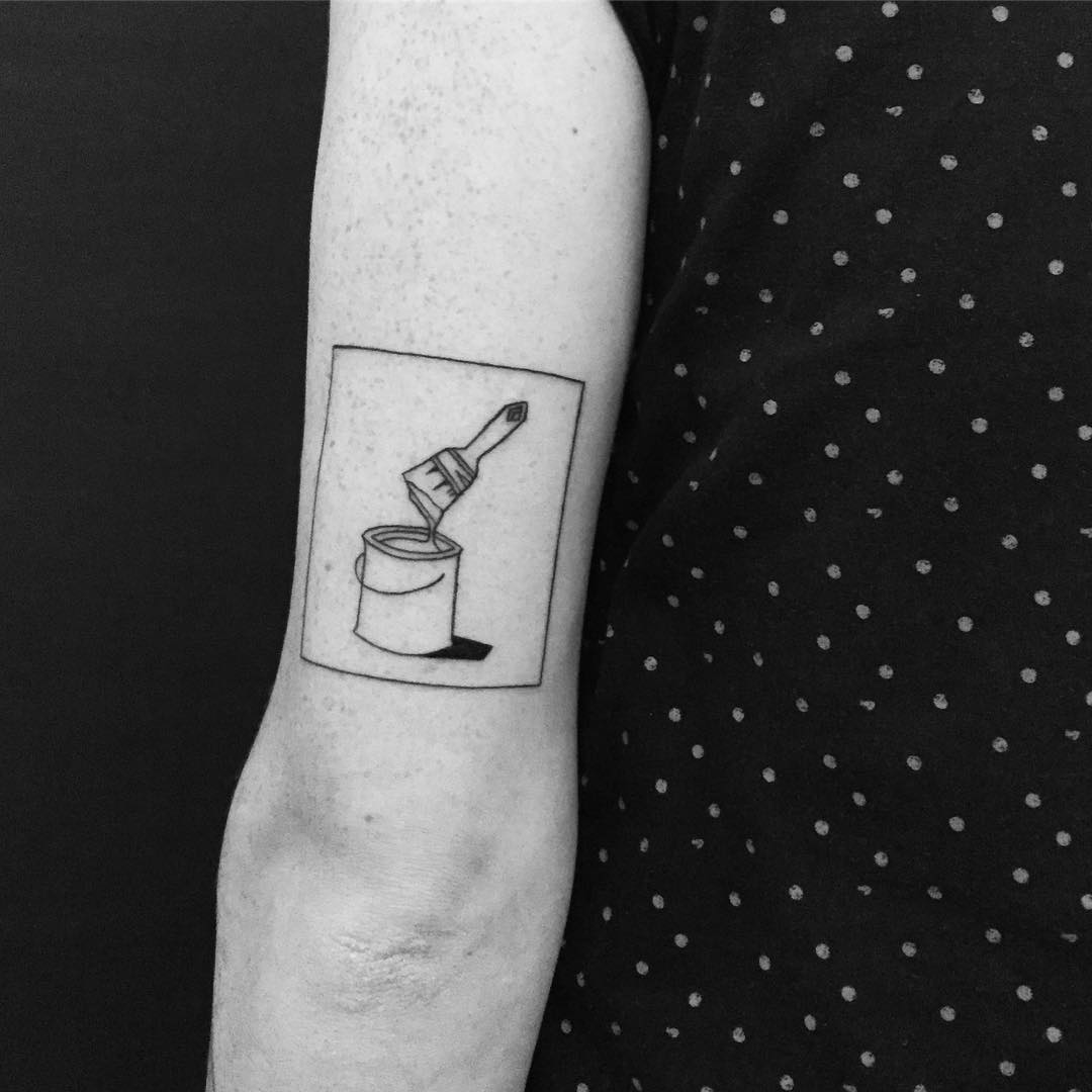 Paint bucket tattoo by Chinatown Stropky