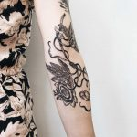 Passion flower tattoo by Finley Jordan