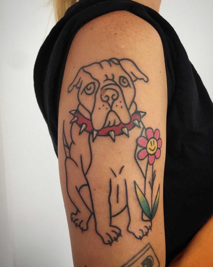 Post ironic bulldog tattoo