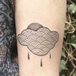 Quilted cloud tattoo