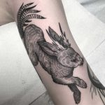 Rabbit tattoo by Henbo Henning