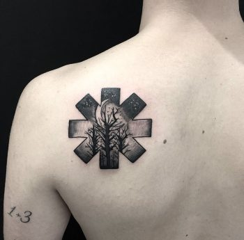 Red Hot Chilli Peppers logo tattoo