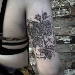 Rose de Provins tattoo