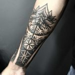 Sacred geometry and Lotus flower tattoo