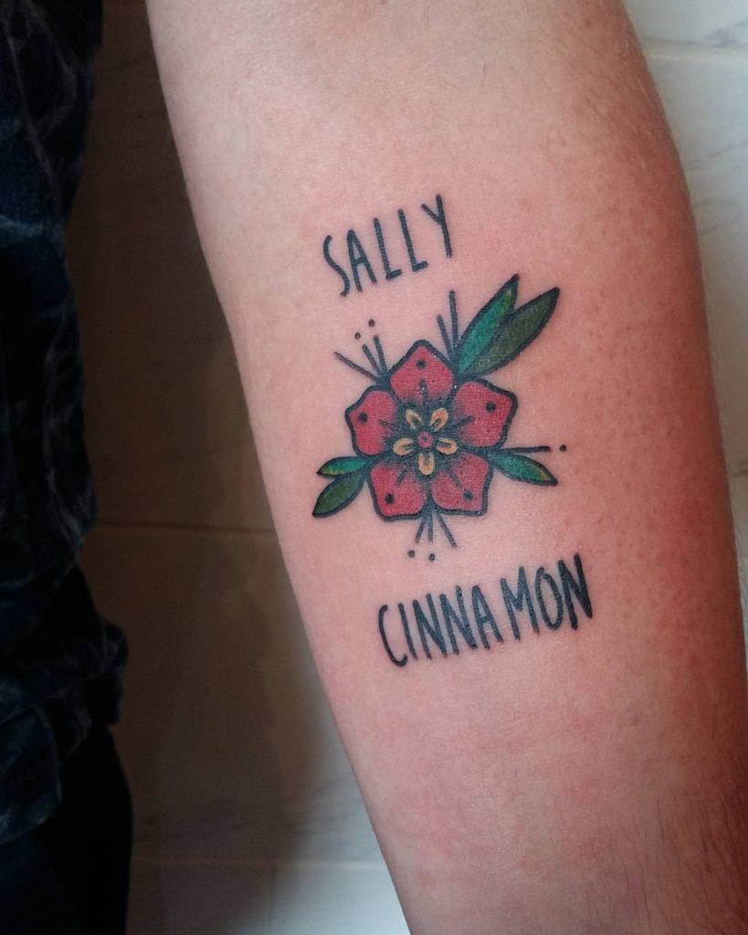 Sally cinnamon tattoo by Lara Simonetta
