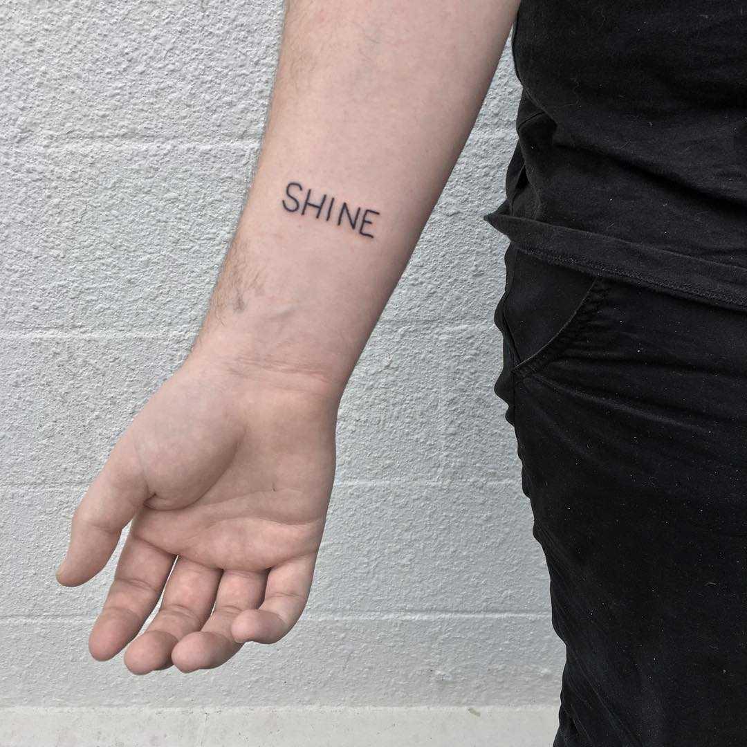 Shine tattoo by yeahdope