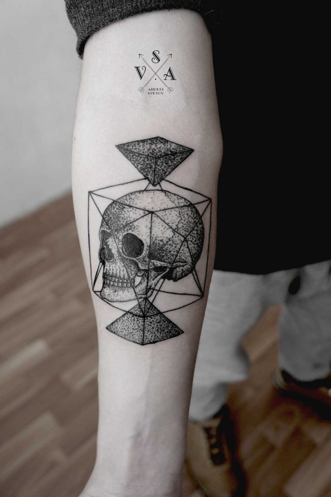 Skull and geometry by Andrei Svetov