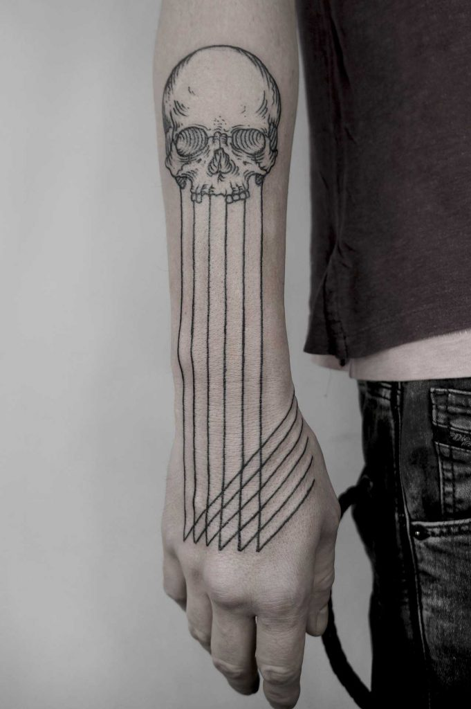 Skull and lines by Andrei Svetov