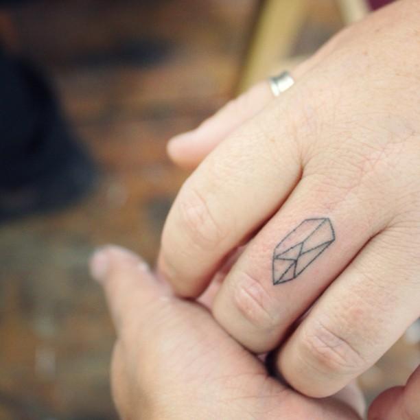 Small crystal tattoo by Stanislava Pinchuk