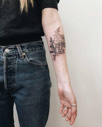 Small wild bundle tattoo by Finley Jordan