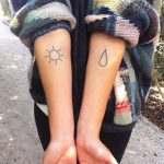 Snshine raindrop tattoo by Nadia Rose
