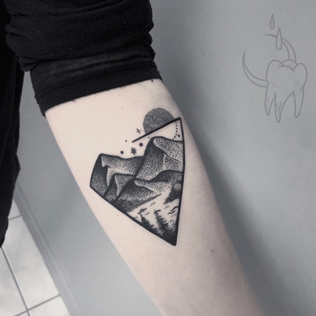 Solitude landscape tattoo