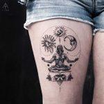 Spiritual tattoo by Ilayda Atlas