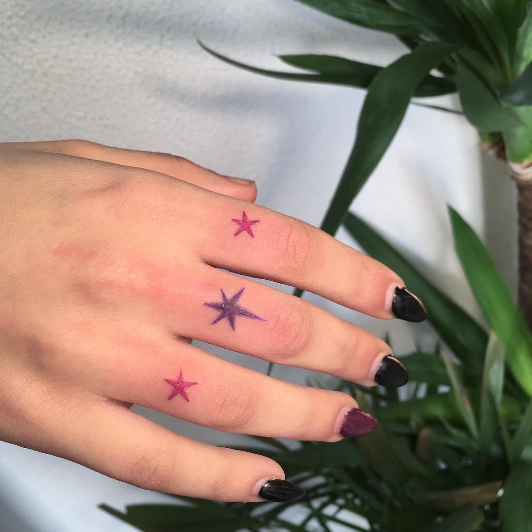 Star tattoos by Agata Agataris