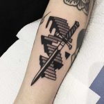 Sword and stairs by tattooist Miedoalvacio