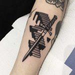 Sword and stairs by tattooist Miedoalvacio