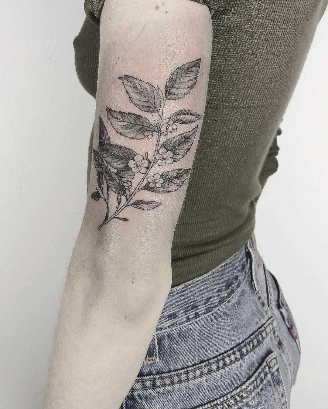Tea leaves by E.K.ek.tattoos